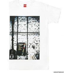 Koszulka LINY i ŁAŃCUCHY tshirt. Białe t-shirty męskie z nadrukiem Pakamera, m. Za 77,00 zł.
