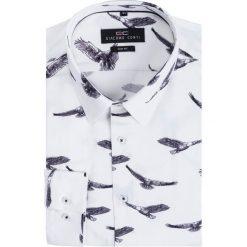 Koszula SIMONE KDWS000226. Szare koszule męskie na spinki marki S.Oliver, l, z bawełny, z włoskim kołnierzykiem, z długim rękawem. Za 199,00 zł.