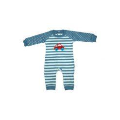 Ebi & Ebi  Fairtrade Śpioszki paski, niebieski. Niebieskie śpiochy niemowlęce marki Ebi & Ebi, z bawełny, z długim rękawem. Za 89,00 zł.