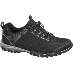 Sportowe buty damskie Graceland czarne. Czarne buty sportowe damskie marki Adidas, z kauczuku, trekkingowe. Za 99,90 zł.