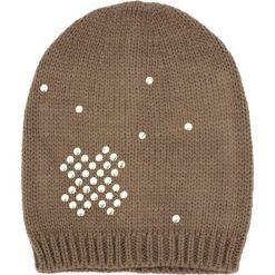 Czapka damska  beanie Złoty krzyżyk brązowa. Brązowe czapki zimowe damskie marki Art of Polo. Za 36,52 zł.