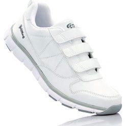 Buty sportowe skórzane Brütting bonprix biały. Białe buty skate męskie bonprix. Za 149,99 zł.