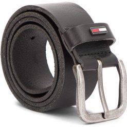 Pasek Męski TOMMY JEANS - Tjm Flag Loop Belt 4.0CM AM0AM02794  002. Czarne paski męskie Tommy Jeans, w paski, z jeansu. Za 179,00 zł.