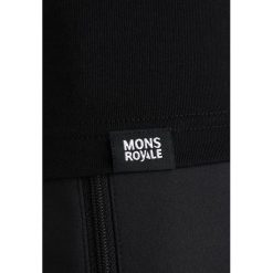 Mons Royale REDWOOD BOX SMALL Tshirt basic black. Czarne t-shirty męskie Mons Royale, m, z elastanu. Za 359,00 zł.