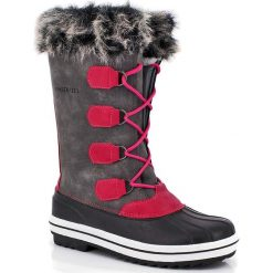 """Buty zimowe damskie: Kozaki """"Clara"""" w kolorze szaro-czerwonym"""