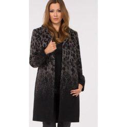 Płaszcze damskie pastelowe: Wełniany płaszcz w cętki
