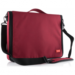 """Modecom Torino 15.6"""" czerwona. Czerwone torby na laptopa Modecom, w paski. Za 79,90 zł."""