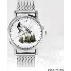 Biżuteria i zegarki damskie: Zegarek - Wilk - metalowy