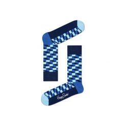 Skarpetki Happy Socks - Filled Optic (FIO01-6000). Szare skarpetki męskie Happy Socks, w kolorowe wzory, z bawełny. Za 34,90 zł.
