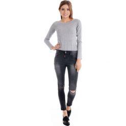 Rurki damskie: Spodnie - 71-B028 NERO