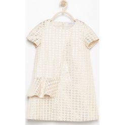 Sukienki dziewczęce: Sukienka z falbankami – Kremowy