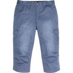 Spodnie bojówki 3/4 bonprix indygo. Niebieskie bojówki męskie marki bonprix. Za 89,99 zł.