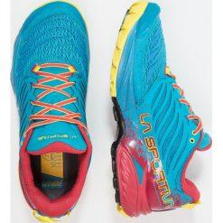 La Sportiva AKASHA Obuwie do biegania Szlak tropic blue/cardinal. Niebieskie buty do biegania męskie La Sportiva, z gumy. Za 659,00 zł.
