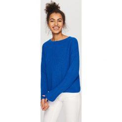 Sweter z zabudowanym dekoltem - Niebieski. Niebieskie swetry klasyczne damskie Reserved, l. Za 59,99 zł.