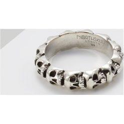 Northskull SKULL RING BAND Pierścionek silver. Szare sygnety męskie Northskull. Za 629,00 zł.