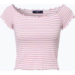 Aygill's - T-shirt damski, różowy. Czerwone t-shirty damskie Aygill's Denim, s, w paski, z denimu, z kołnierzem typu carmen. Za 39,95 zł.