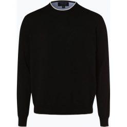 Andrew James - Sweter męski, czarny. Czarne swetry klasyczne męskie Andrew James, m, prążkowane, z kontrastowym kołnierzykiem. Za 149,95 zł.