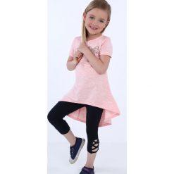 Tunika dziewczęca z kokardą różowa NDZ8232. Szare sukienki dziewczęce marki Fasardi. Za 39,00 zł.