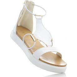 Sandały bonprix biały. Białe rzymianki damskie bonprix. Za 89,99 zł.