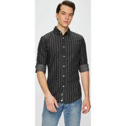 Review - Koszula. Czarne koszule męskie na spinki Review, l, w paski, z bawełny, z klasycznym kołnierzykiem, z długim rękawem. W wyprzedaży za 99,90 zł.