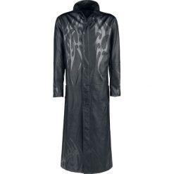 Płaszcze męskie: Spiral Tribal Panther Płaszcz czarny
