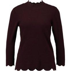 Swetry klasyczne damskie: Cortefiel Sweter bordeaux
