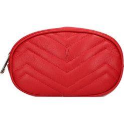 """Torebki klasyczne damskie: Skórzana torebka """"Neuilly"""" w kolorze czerwonym na pasek – 18 x 16 x 11 cm"""