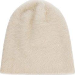 Czapka COCCINELLE - CY3 Cappelli E7 CY3 37 15 01 001 Blanche H10. Brązowe czapki zimowe damskie marki Coccinelle, z materiału. Za 299,90 zł.
