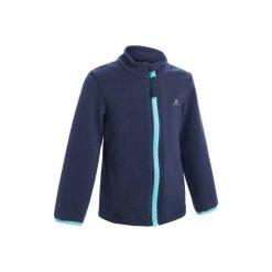 Bluza 100 Gym. Szare bluzy dziewczęce marki DOMYOS, z elastanu, z kapturem. Za 44,99 zł.