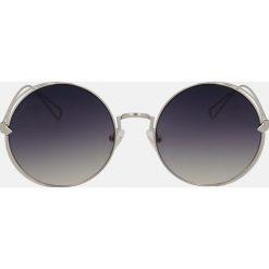 Srebrne okulary przeciwsłoneczne. Szare okulary przeciwsłoneczne damskie aviatory Kazar. Za 369,00 zł.