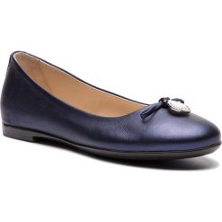 Baleriny EMPORIO ARMANI - XXD001 XON04 00285 D Blue Navy. Niebieskie baleriny damskie Emporio Armani, z materiału. Za 919,00 zł.