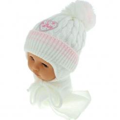 Czapka niemowlęca z szalikiem CZ+S 149A. Szare czapeczki niemowlęce Proman. Za 39,76 zł.