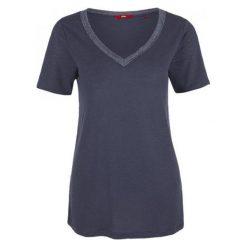 S.Oliver T-Shirt Damski 42 Ciemnoniebieski. Szare t-shirty damskie marki S.Oliver, s, dekolt w kształcie v. W wyprzedaży za 69,00 zł.