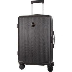 Walizka w kolorze czarnym - 39 l. Czarne walizki marki Travel One, z materiału. W wyprzedaży za 189,95 zł.