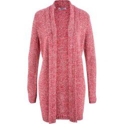 Długi sweter rozpinany, długi rękaw bonprix czerwony melanż. Czerwone kardigany damskie marki bonprix, melanż. Za 89,99 zł.
