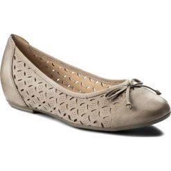 Baleriny CAPRICE - 9-22128-20 Grey Nubuc 204. Szare baleriny damskie marki Caprice, z gumy. W wyprzedaży za 199,00 zł.