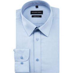 Koszula KARL slim KDNS000470. Białe koszule męskie na spinki marki Giacomo Conti, m, z bawełny, z klasycznym kołnierzykiem. Za 199,00 zł.