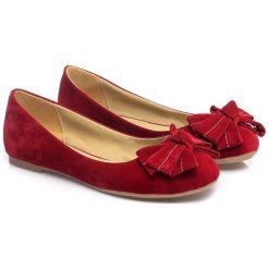 Baleriny damskie: Baleriny w kolorze czerwonym