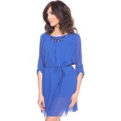 """Sukienki hiszpanki: Sukienka """"Adele"""" w kolorze niebieskim"""