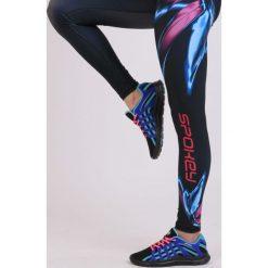 Spodnie dresowe damskie: Spokey Leginsy damskie długie fitness czarno-niebieskie r. S (839460)