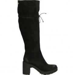 Kozaki ocieplane - 576N CAM NERO. Czarne buty zimowe damskie marki Kazar, ze skóry, na wysokim obcasie. Za 269,00 zł.