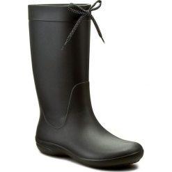 Kalosze CROCS - Freesail Rain Boot 203541 Black. Czarne buty zimowe damskie Crocs, z materiału. Za 209,00 zł.