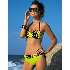Stroje kąpielowe damskie: Bikini w kolorze zielono-czarnym