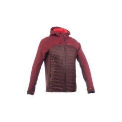 Kurtka Softshell trekkingowa TREK 900 hybrid męska. Czerwone kurtki męskie outdoor marki QUECHUA, l, z elastanu. Za 249,99 zł.
