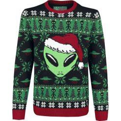 Ugly Christmas Sweater Alien Sweter z dzianiny wielokolorowy. Szare swetry klasyczne męskie Ugly Christmas Sweater, m, z dzianiny, z okrągłym kołnierzem. Za 184,90 zł.