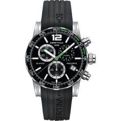RABAT ZEGAREK CERTINA DS SPORT C027.417.17.057.01. Czarne zegarki męskie CERTINA, ze stali. W wyprzedaży za 1900,80 zł.