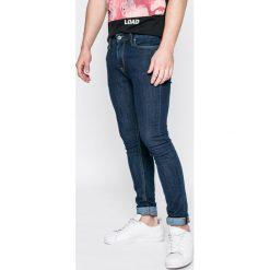 Jack & Jones - Jeansy Liam. Czarne jeansy męskie skinny marki Jack & Jones, l, z bawełny, z klasycznym kołnierzykiem, z długim rękawem. W wyprzedaży za 89,90 zł.