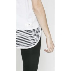 Adidas by Stella McCartney - Top. Szare topy sportowe damskie adidas by Stella McCartney, l, z aplikacjami, z bawełny, bez rękawów. W wyprzedaży za 179,90 zł.