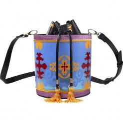 Aladyn Fliegender Teppich Torebka - Handbag wielokolorowy. Szare torebki klasyczne damskie Aladyn, z aplikacjami, z aplikacjami. Za 244,90 zł.