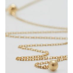 Biżuteria i zegarki damskie: Maria Black CORVI NECKLACE SLIDER BALL Naszyjnik goldcoloured